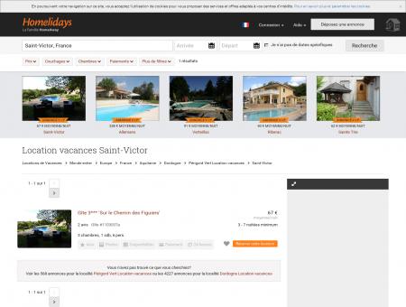 Location vacances Saint-Victor : location...