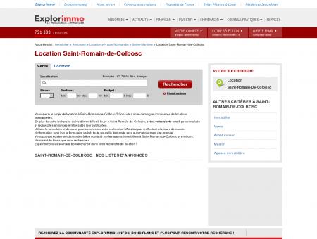 Location Saint-Romain-de-Colbosc :...