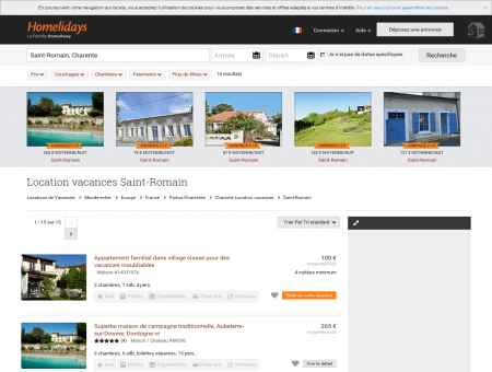 Location vacances Saint-Romain : location...