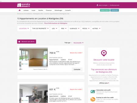 Location Appartement Wattignies (59) | Louer...