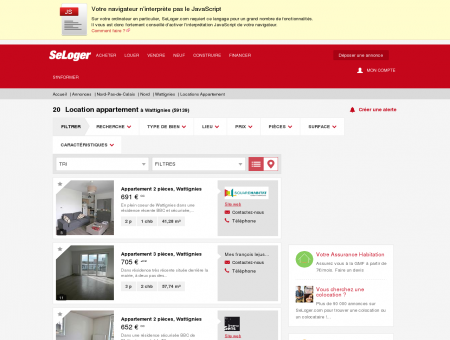 Location d'appartements Wattignies (59139) |...