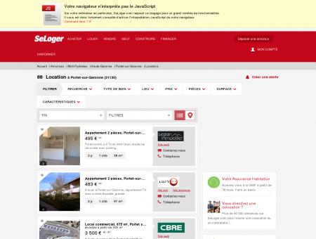 Location immobilier Portet-sur-Garonne...