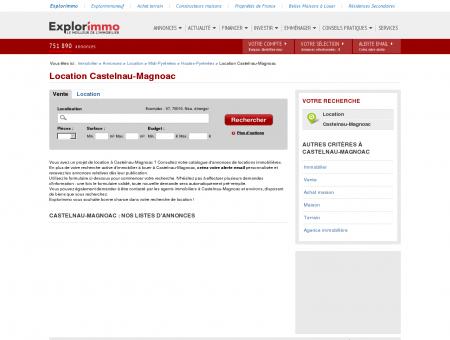 Location Castelnau-Magnoac : immobilier à...