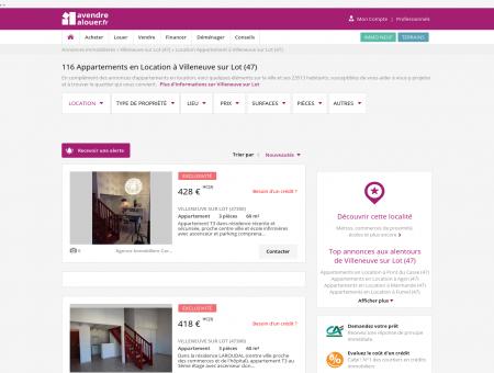 Location Appartement Villeneuve sur Lot (47)...
