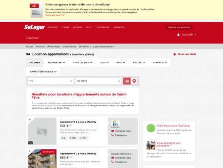 Location d'appartements Saint-Félix (74540) |...