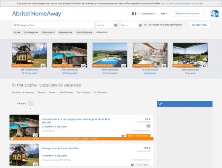 Location vacances St Christophe, location...