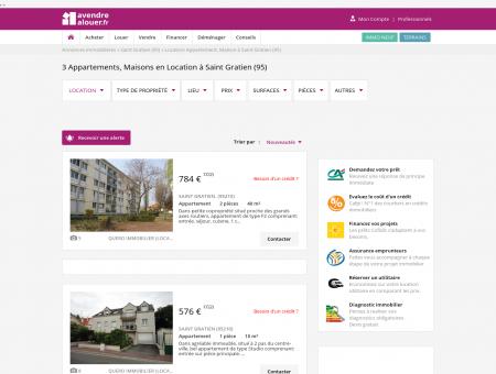 Location Saint Gratien | avendrealouer.fr