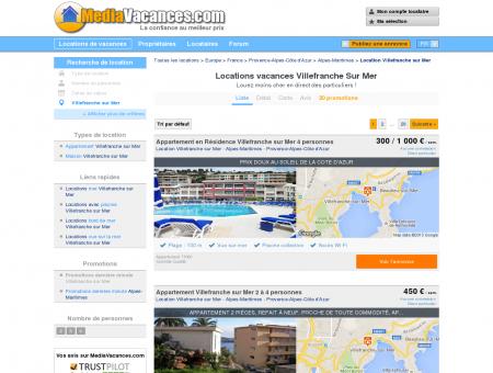 LOCATIONS VACANCES VILLEFRANCHE SUR...