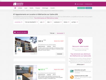 Location Appartement Villefranche sur Saône...