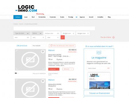 Immobilier Wasquehal | logic-immo.com