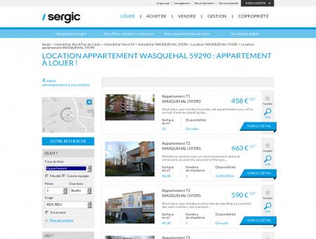 Location appartement WASQUEHAL 59290 :...