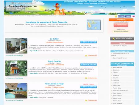 Location vacances Saint Francois, locations...