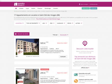 Location Appartement Saint Dié des Vosges...