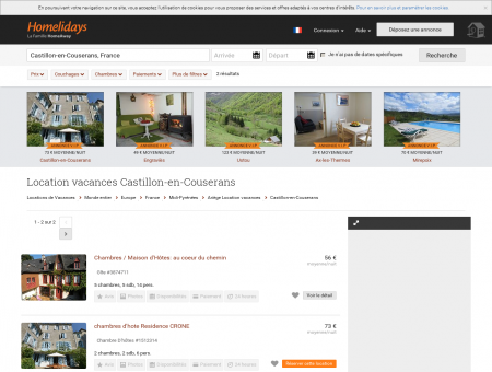 Location vacances Castillon-en-Couserans :...
