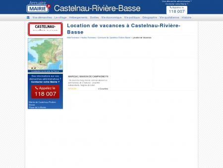 Location de vacances à Castelnau-Rivière...