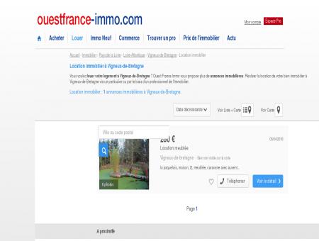 Location immobilier à Vigneux-de-Bretagne