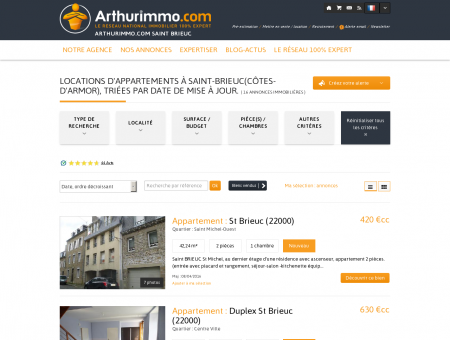 Location Saint Brieuc - Vous cherchez un appartement...