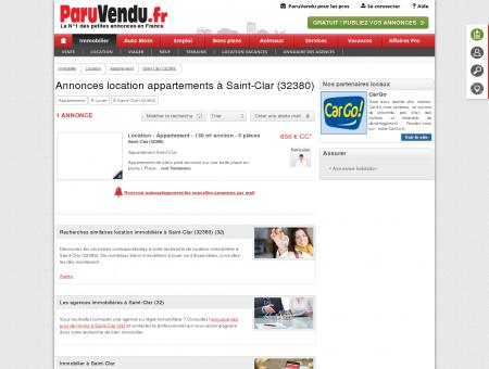 Location appartement à Saint-Clar (32380) :...