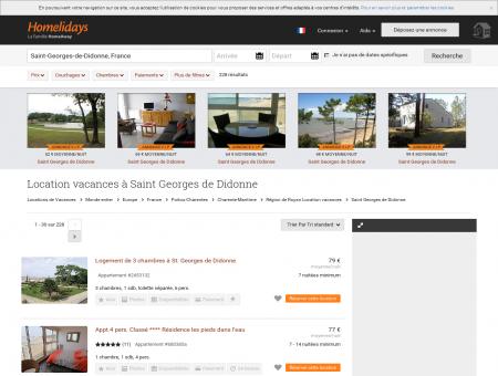 Location vacances à Saint Georges de...