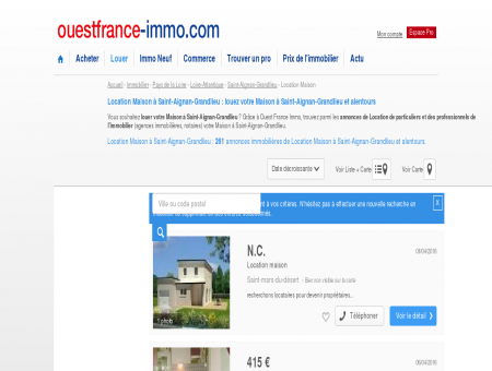 Location Maison à Saint-Aignan-Grandlieu :...