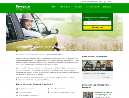 Location de voiture à Woippy, France - Europcar