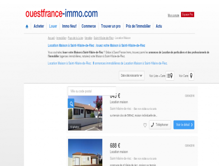 Location Maison à Saint-Hilaire-de-Riez :...