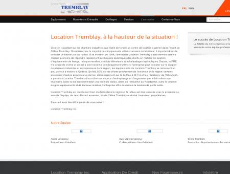 Location Tremblay - L'entreprise