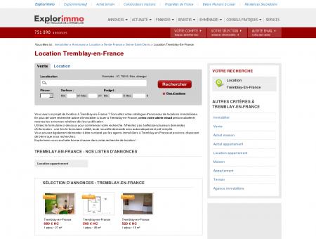 Location Tremblay-en-France : immobilier à...