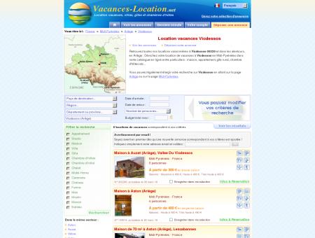 Location vacances Vicdessos (09220) -...