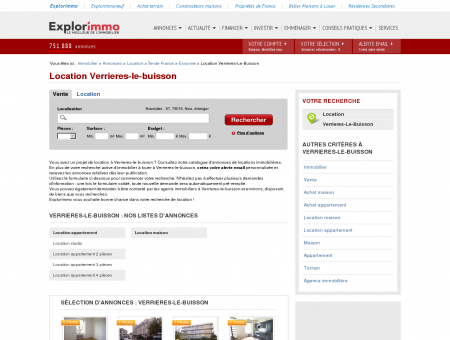 Location Verrieres-le-buisson : immobilier à...