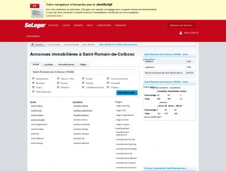Immobilier à Saint-Romain-de-Colbosc...