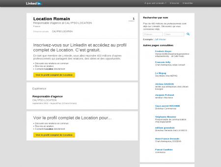 Location Romain | LinkedIn