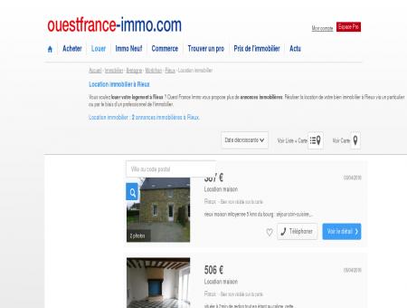Location immobilier à Rieux