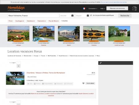 Location vacances Rieux : location saisonnière...