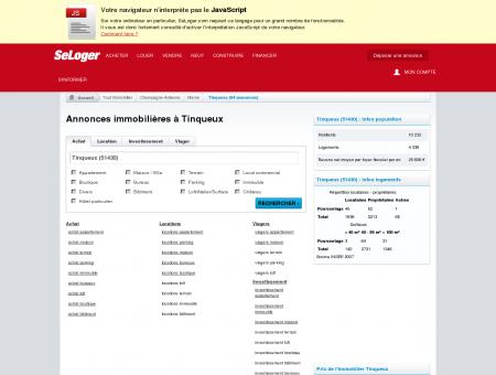Immobilier à Tinqueux (51430) | Annonces...