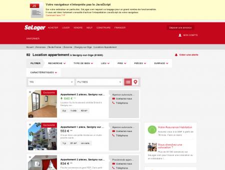 Location d'appartements Savigny-sur-Orge...