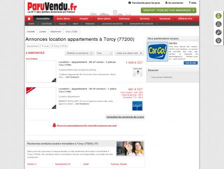 Location appartement à Torcy (77200) :...