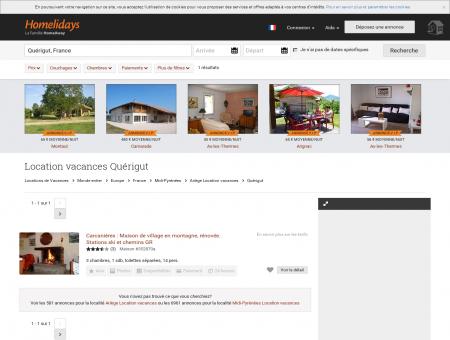 Location vacances Quérigut : location...