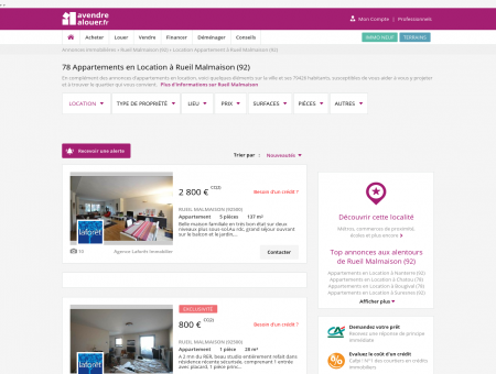 Location Appartement Rueil Malmaison (92) |...