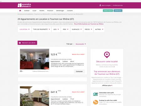 Location Appartement Tournon sur Rhône...