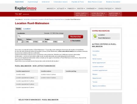 Location Rueil-Malmaison : immobilier à louer...