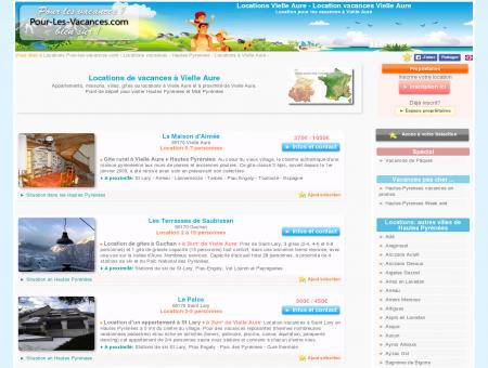 Location vacances Vielle Aure, locations...