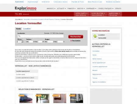 Location Vernouillet : immobilier à louer...