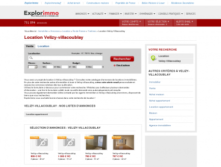 Location Velizy-villacoublay : immobilier à...