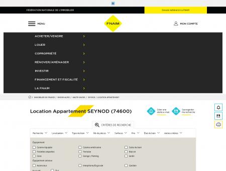 Location Appartement SEYNOD (74600) -...