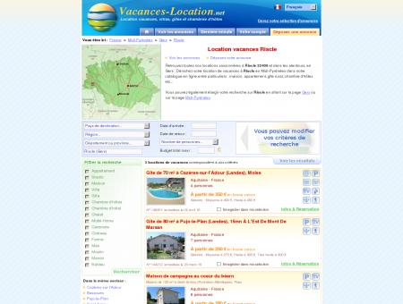 Location vacances Riscle (32400) - Location...