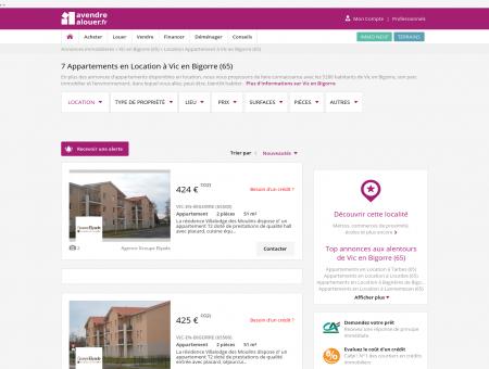 Location Appartement Vic en Bigorre (65)  ...