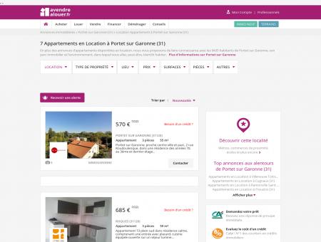 Location Appartement Portet sur Garonne (31)...