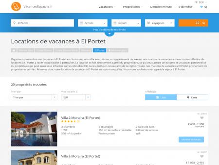 Locations de vacances à El Portet