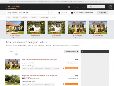 Location vacances Savignac Ledrier : location...